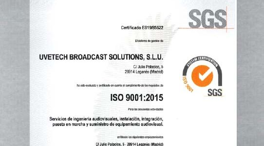VAV ENGINEERING OBTAINS THE CERTIFICATION OF YOUR SYSTEM OF QUALITY MANAGEMENT / ISO 9001:2015