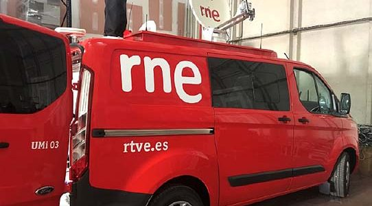 DELIVERY OF THE 2nd AUDIO TRANSMISSION OB VAN TO RNE / MADRID