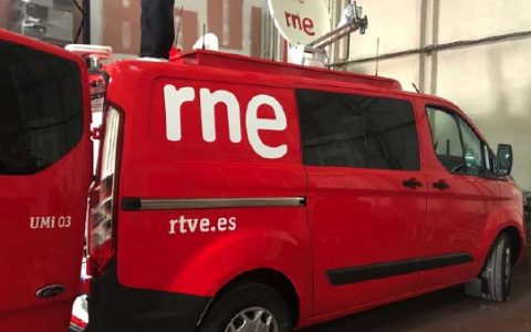 DELIVERY OF THE 4th OB VAN AUDIO TRANSMISSION FOR RNE / MADRID