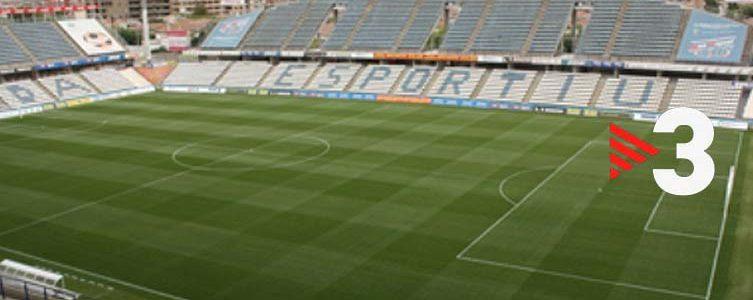 VAV BROADCAST / TV3 / FOOTBALL / 2nd DIVISION B / LLEIDA ESPORTIU VS UE CORNELLÀ / LLEIDA