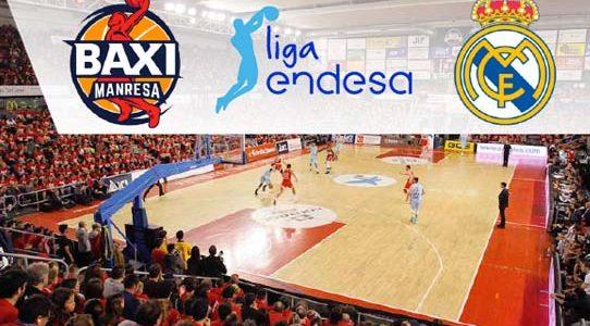 BALONCESTO ACB LIGA ENDESA / BAXI MANRESA VS. REAL MADRID / MANRESA