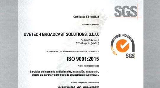 VAV ENGINEERING OBTIENE LA CERTIFICACIÓN DE SU SISTEMA DE GESTIÓN DE CALIDAD / ISO 9001:2015