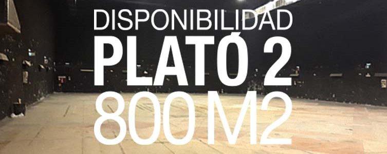 VAV STUDIOS / DISPONIBILIDAD PLATÓ 2 / 800M2 / MADRID